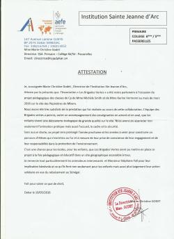 Attestation ISJA pour Mboro 001 (2)